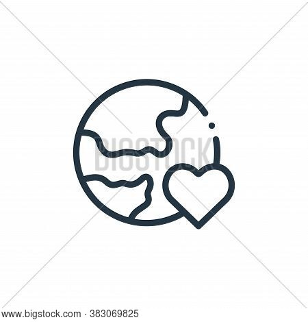 world icon isolated on white background from charity collection. world icon trendy and modern world