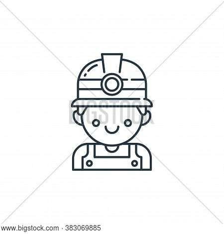 miner icon isolated on white background from labour day collection. miner icon trendy and modern min