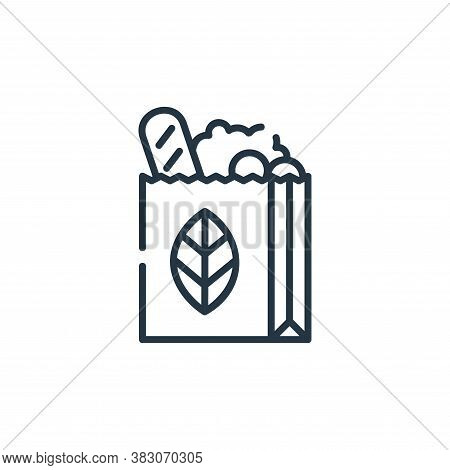 paper bag icon isolated on white background from ecology collection. paper bag icon trendy and moder