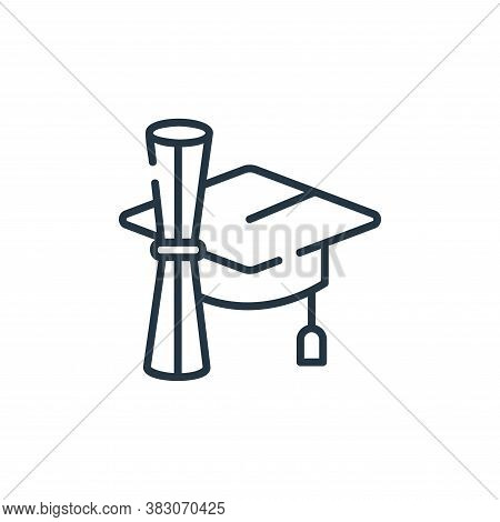 graduate icon isolated on white background from digital learning collection. graduate icon trendy an