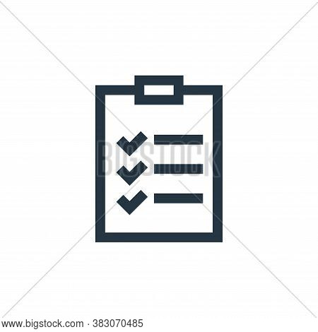 checklist icon isolated on white background from web maintenance collection. checklist icon trendy a