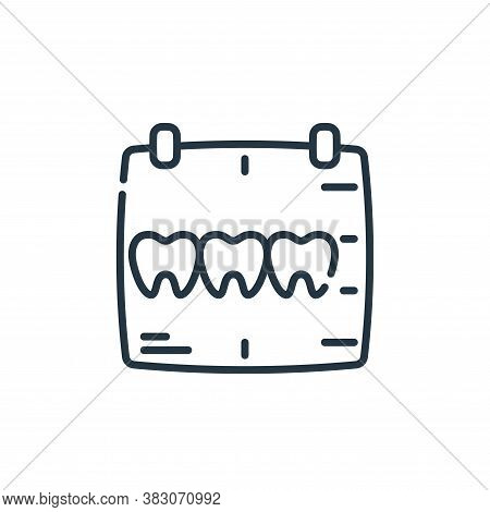 x ray icon isolated on white background from dentist collection. x ray icon trendy and modern x ray
