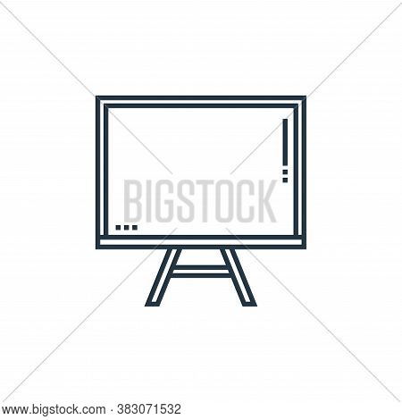 blackboard icon isolated on white background from school collection. blackboard icon trendy and mode