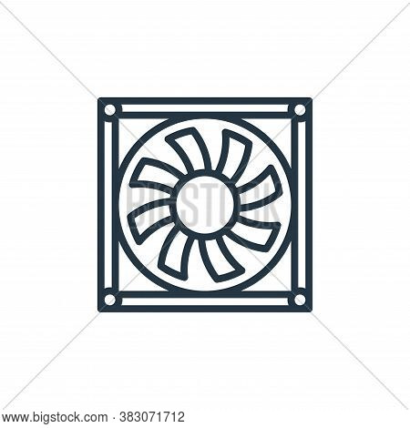 fan icon isolated on white background from computer hardware collection. fan icon trendy and modern