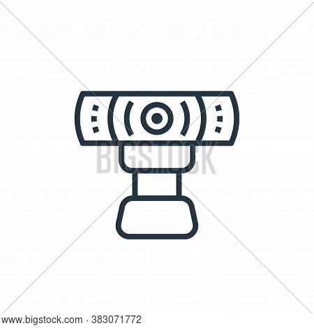 webcam icon isolated on white background from computer hardware collection. webcam icon trendy and m