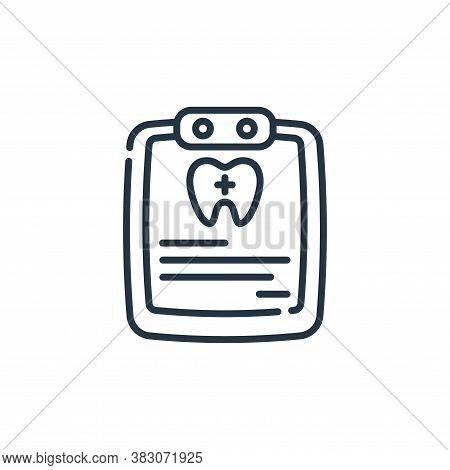 medical record icon isolated on white background from dentist collection. medical record icon trendy