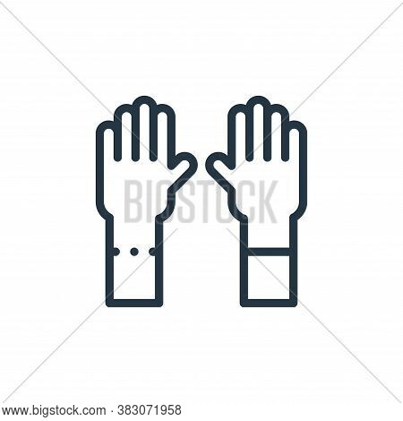 gloves icon isolated on white background from laboratory collection. gloves icon trendy and modern g
