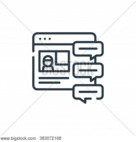 chat icon isolated on white background from digital learning collection. chat icon trendy and modern