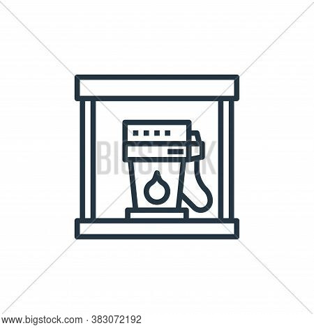 gas station icon isolated on white background from car service collection. gas station icon trendy a