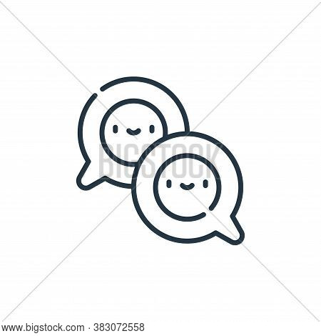 conversation icon isolated on white background from cyber security collection. conversation icon tre