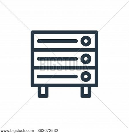 storage device icon isolated on white background from computer hardware collection. storage device i