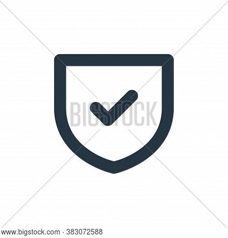 security icon isolated on white background from security collection. security icon trendy and modern