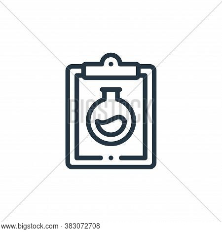 clipboard icon isolated on white background from laboratory collection. clipboard icon trendy and mo