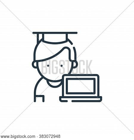 student icon isolated on white background from digital learning collection. student icon trendy and