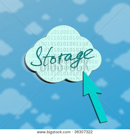 Symbol Of Storage In Cloud Server