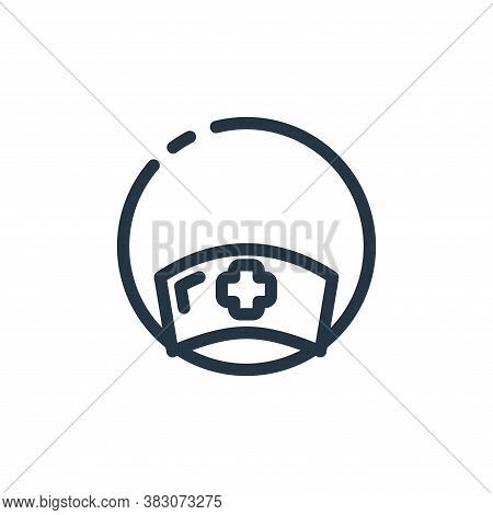 hat icon isolated on white background from hospital collection. hat icon trendy and modern hat symbo
