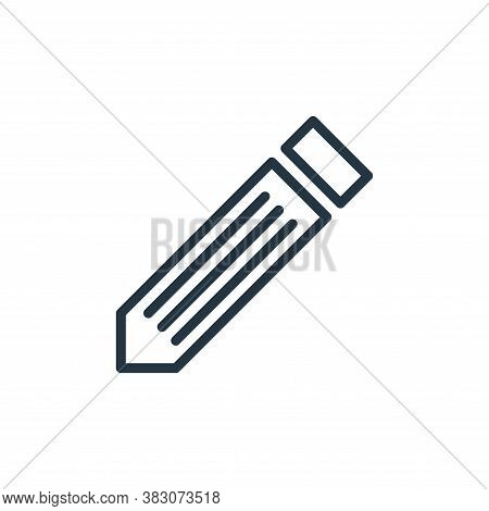 pencil icon isolated on white background from working in the office collection. pencil icon trendy a