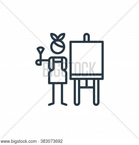 painting icon isolated on white background from arts collection. painting icon trendy and modern pai