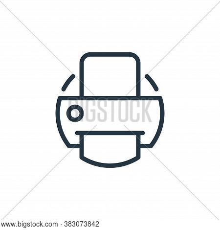 printer icon isolated on white background from electrical appliances collection. printer icon trendy