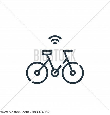 bike icon isolated on white background from smart city collection. bike icon trendy and modern bike