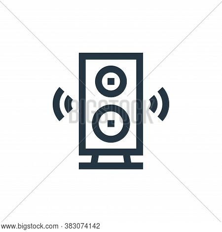 subwoofer icon isolated on white background from celebration collection. subwoofer icon trendy and m
