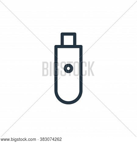 usb drive icon isolated on white background from computer hardware collection. usb drive icon trendy