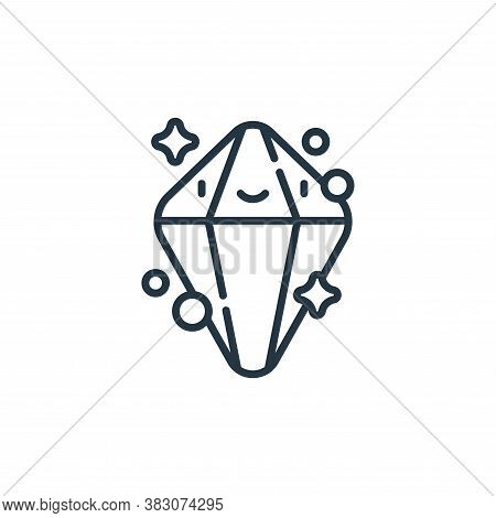 crystal icon isolated on white background from videogame elements collection. crystal icon trendy an