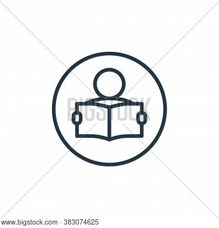 student icon isolated on white background from online learning collection. student icon trendy and m