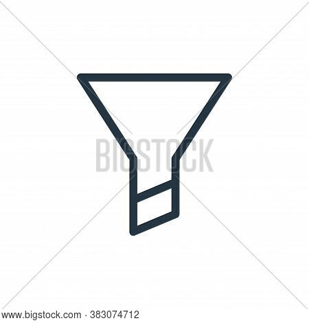 filter icon isolated on white background from ui collection. filter icon trendy and modern filter sy