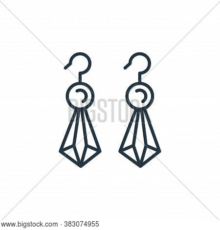 dangling earring icon isolated on white background from jewelry collection. dangling earring icon tr