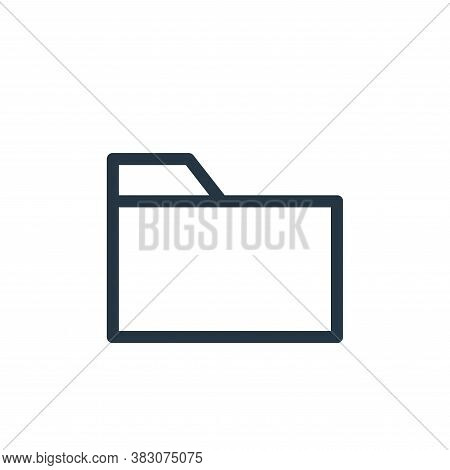 folder icon isolated on white background from ui collection. folder icon trendy and modern folder sy