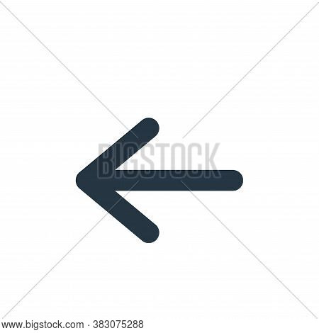left arrow icon isolated on white background from arrow collection. left arrow icon trendy and moder
