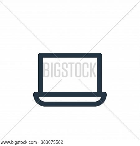 laptop icon isolated on white background from online shop categories collection. laptop icon trendy