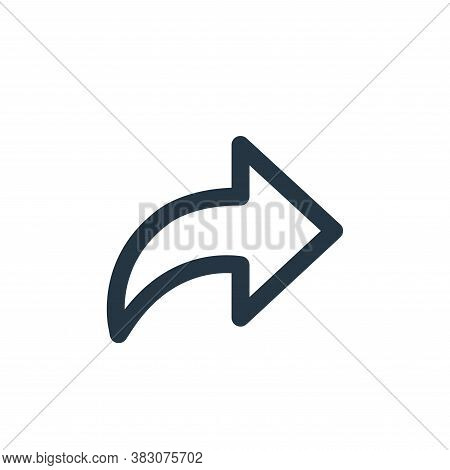 arrow icon isolated on white background from miscellaneous collection. arrow icon trendy and modern