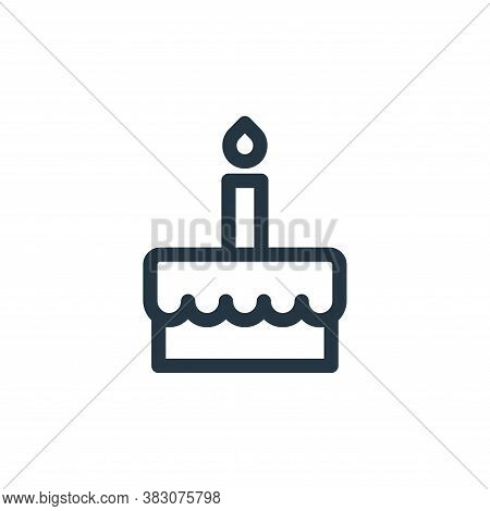 birthday cake icon isolated on white background from miscellaneous collection. birthday cake icon tr