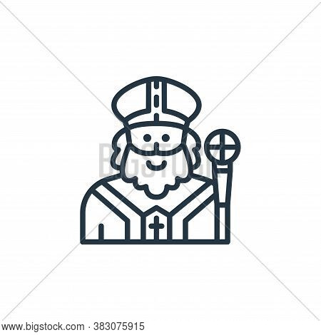Saint Patrick icon isolated on white background from st patricks day collection. Saint Patrick icon