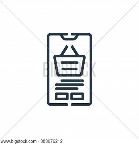 mobile application icon isolated on white background from cyber monday collection. mobile applicatio