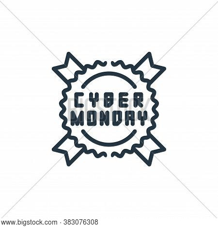 cyber monday icon isolated on white background from cyber monday collection. cyber monday icon trend