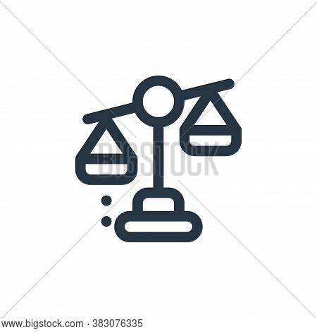 unbalanced icon isolated on white background from fintech collection. unbalanced icon trendy and mod