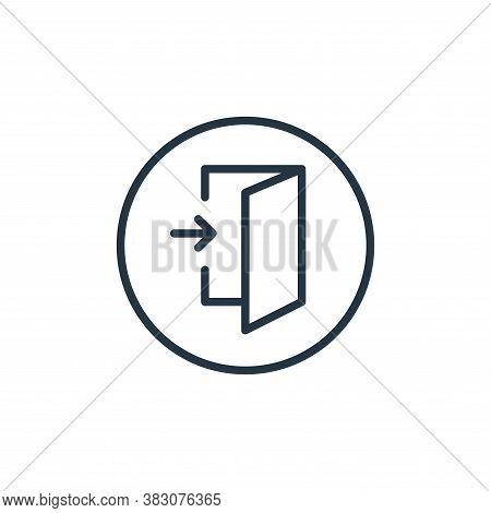 login icon isolated on white background from online learning collection. login icon trendy and moder