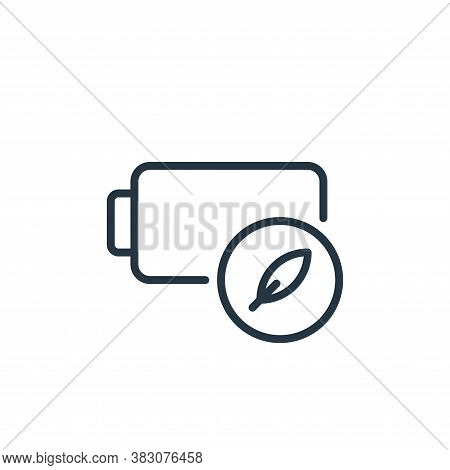 charge icon isolated on white background from ecology line collection. charge icon trendy and modern