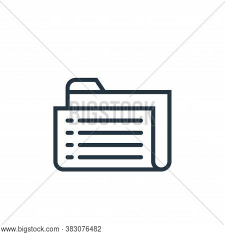 folder icon isolated on white background from business marketing collection. folder icon trendy and