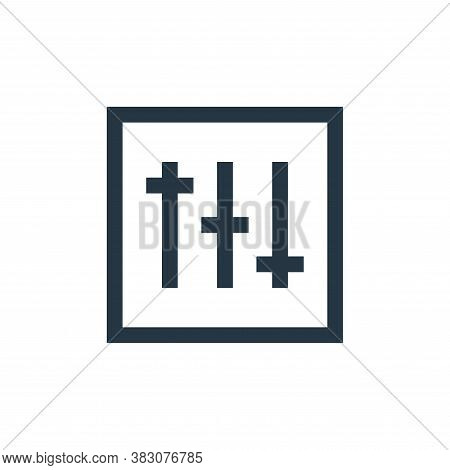 options icon isolated on white background from music collection. options icon trendy and modern opti