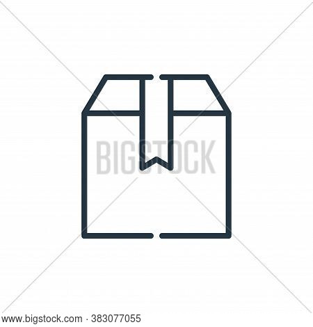 package icon isolated on white background from cyber monday collection. package icon trendy and mode