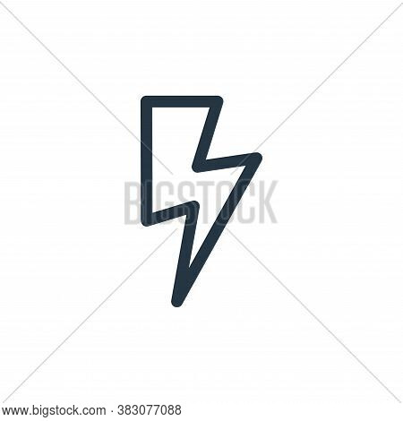 flash icon isolated on white background from miscellaneous collection. flash icon trendy and modern