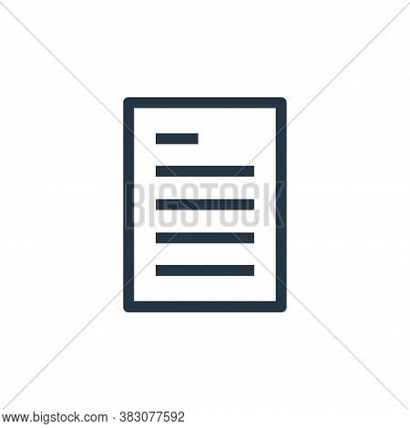 document icon isolated on white background from ui collection. document icon trendy and modern docum