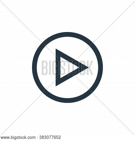 play button icon isolated on white background from music collection. play button icon trendy and mod