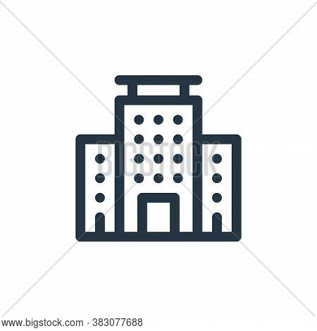 building icon isolated on white background from business administration collection. building icon tr