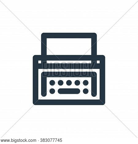 typewriter icon isolated on white background from vintage collection. typewriter icon trendy and mod