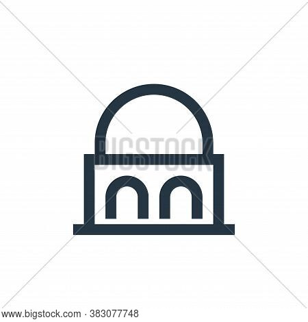 government building icon isolated on white background from property collection. government building
